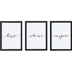 KIT 3 QUADROS CANVAS