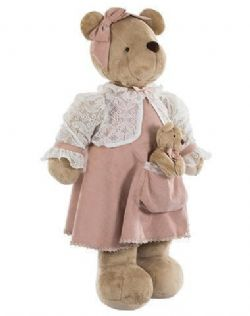 URSA DE PELUCIA KIKINHA MOMMY AMOUR ROSE
