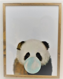 QUADRO POSTER PANDA